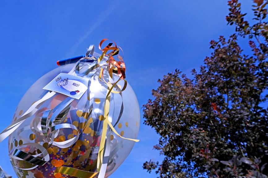 Stuff-A-Loon Geschenk im Luftballon - Nerf Kindergeburtstag Geschenk