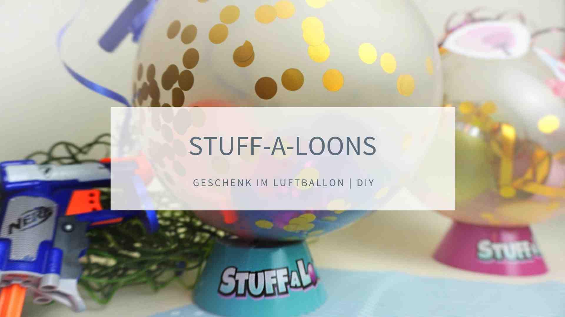 Luftballon mit NERF füllen als Geschenk zum Kindergeburtstag