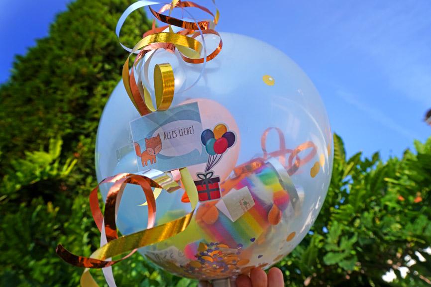Stuff-A-Loon Geschenk im Luftballon - Kuscheltier Beanie