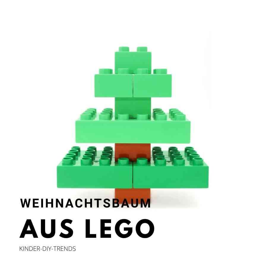 Weihnachtsbaum Bastelideen: Lego Weihnachtsbaum