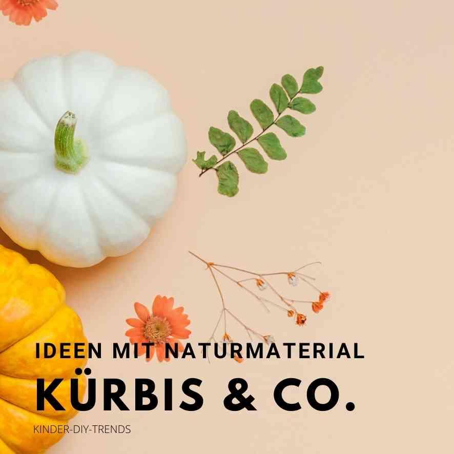 Bastelideen für Kinder im Herbst. Basteln mit Kürbis & Naturmaterial Ideen