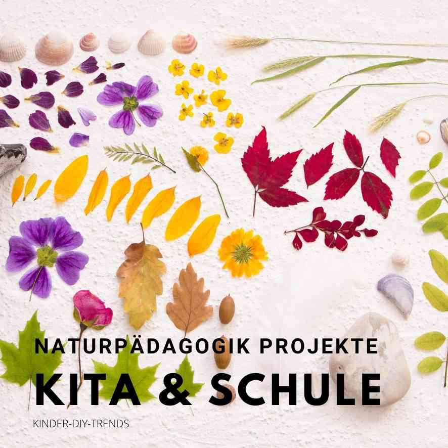 Bastelideen für Kinder im Herbst. Naturpädagogik Projekte