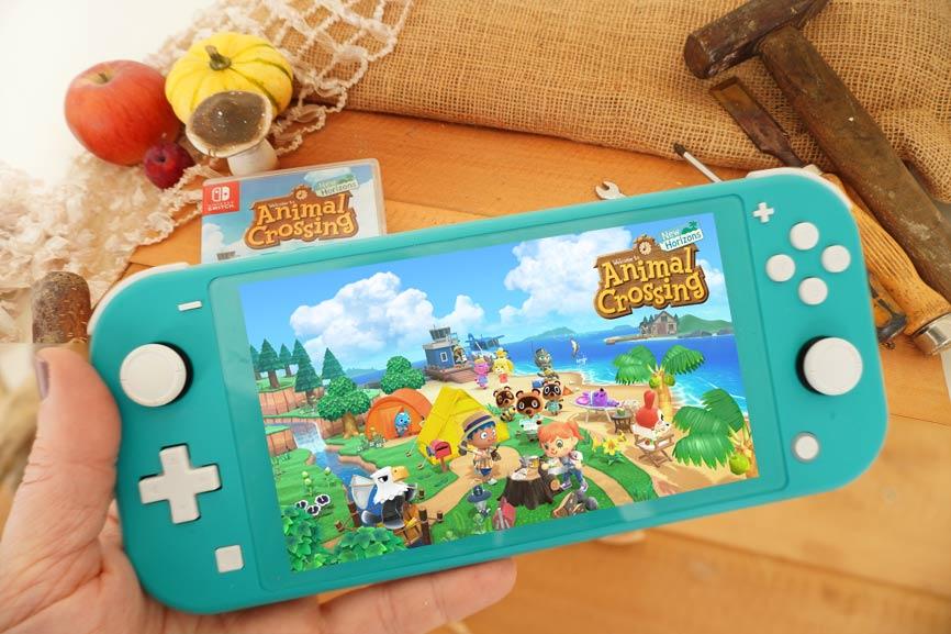 In Animal Crossing sammeln wir Herbst Bastelanleitungen - Nintendo Switch Lite Bloggerkooperation
