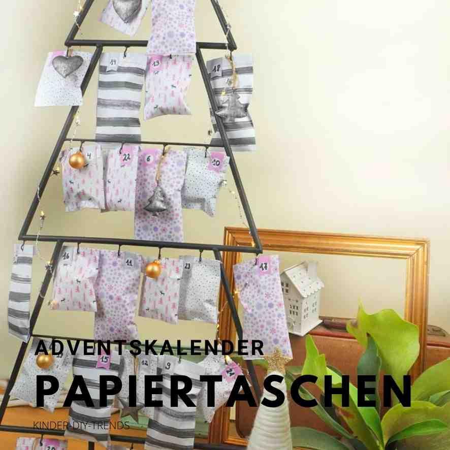 Vorlage Adventskalender Hygge aus Papiertüten