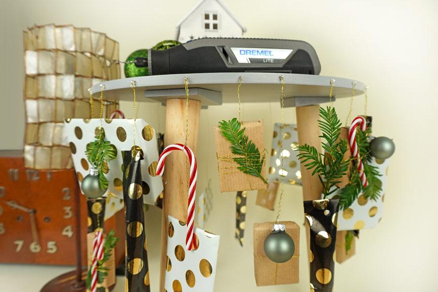 Adventskalender selber basteln DIY Hocker Upcycling - Weihnachtsdeko & Geschenk selber machen
