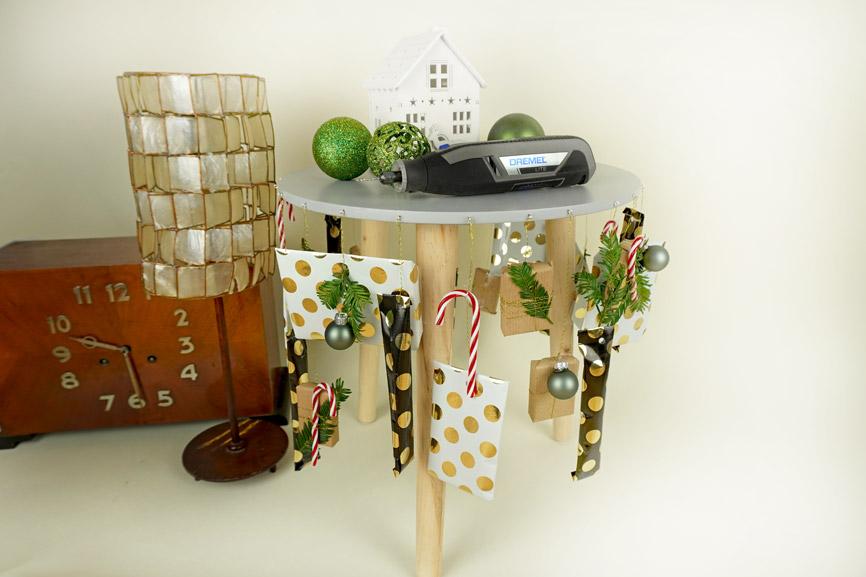Adventskalender selber basteln DIY Hocker Upcycling - Weihnachtsdeko & Geschenkidee