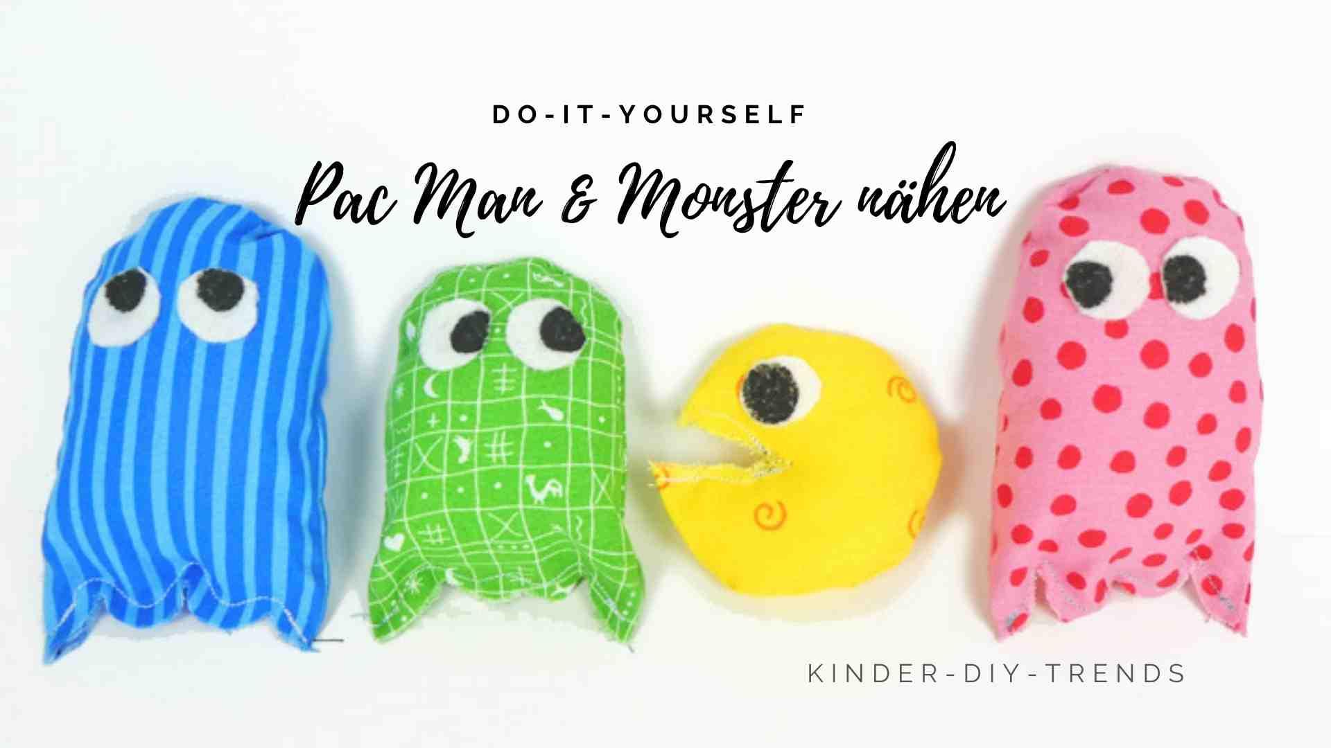 Kreative Geschenkideen für Kinder: Monster nähen (Pac Man)