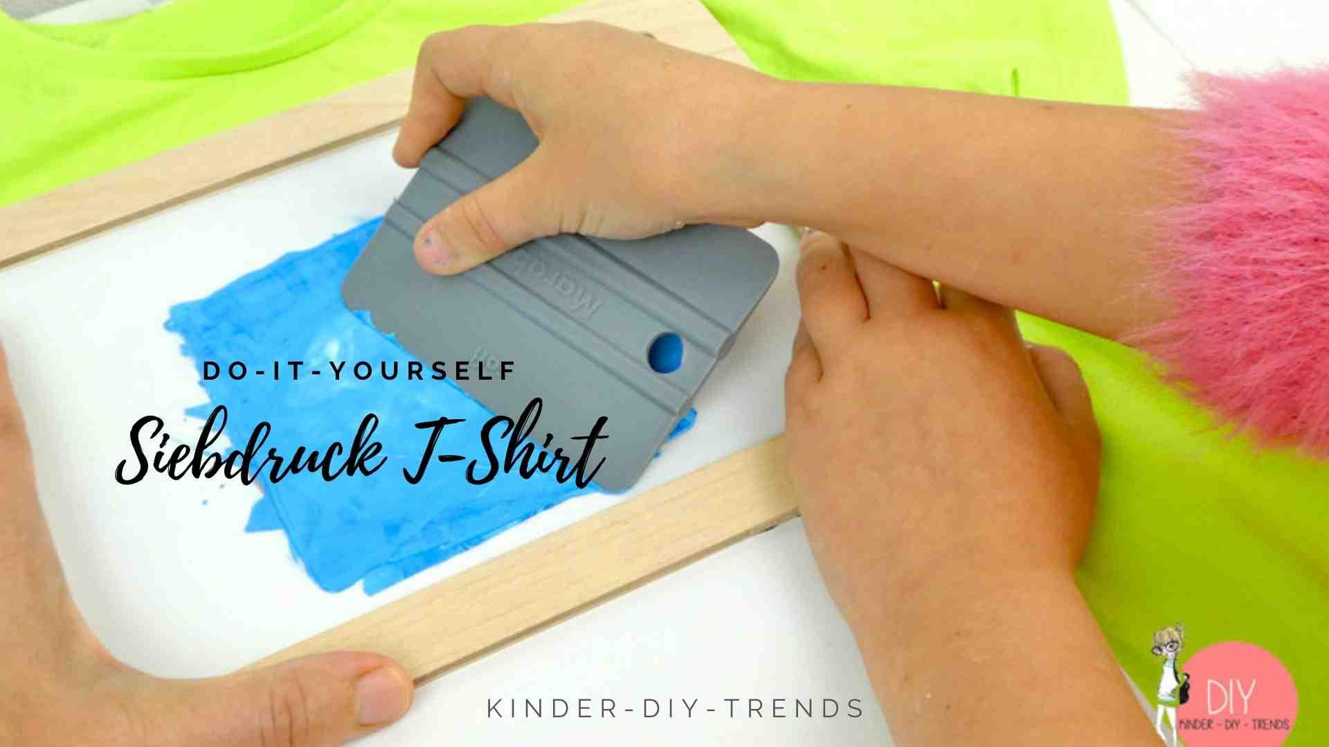 Kreative Geschenkideen für Kinder: Siebdruck Print Textildruck T-Shirt gestalten