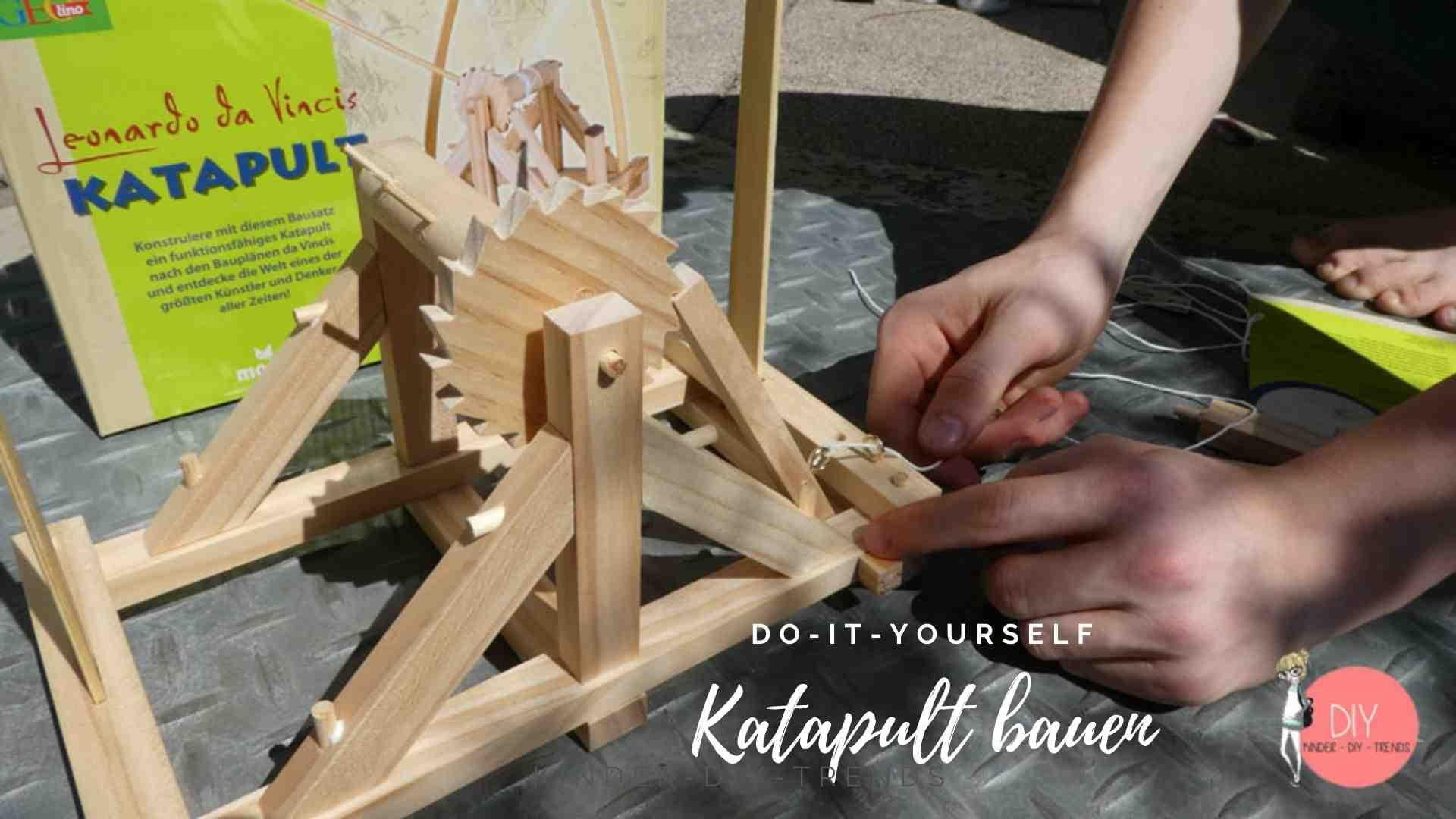 Kreative Geschenkideen für Kinder: Katapult nach Leonardo da Vinci Bausatz bauen