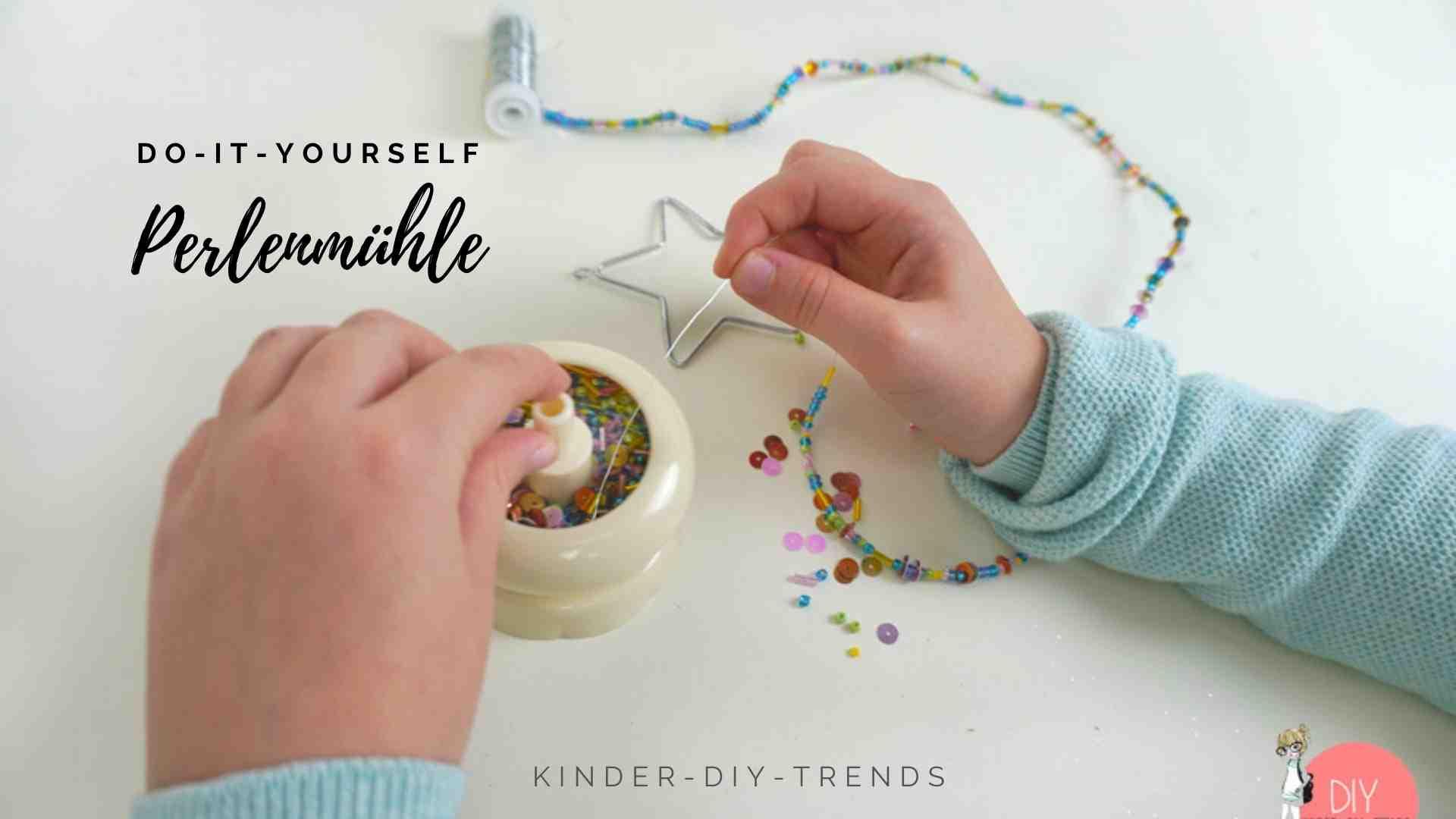 Kreative Geschenkideen für Kinder: Perlenmühle für Perlen Bastelideen