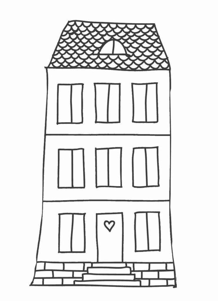 Fensterbild Vorlage Haus