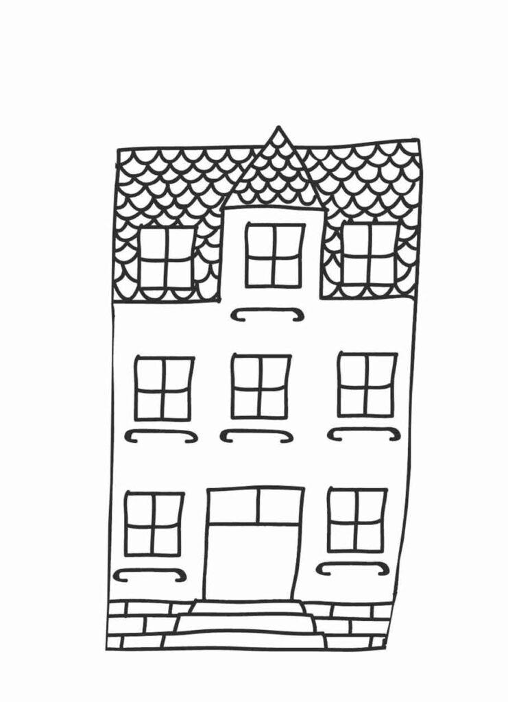 Fensterbild Vorlage Haus Stadthaus