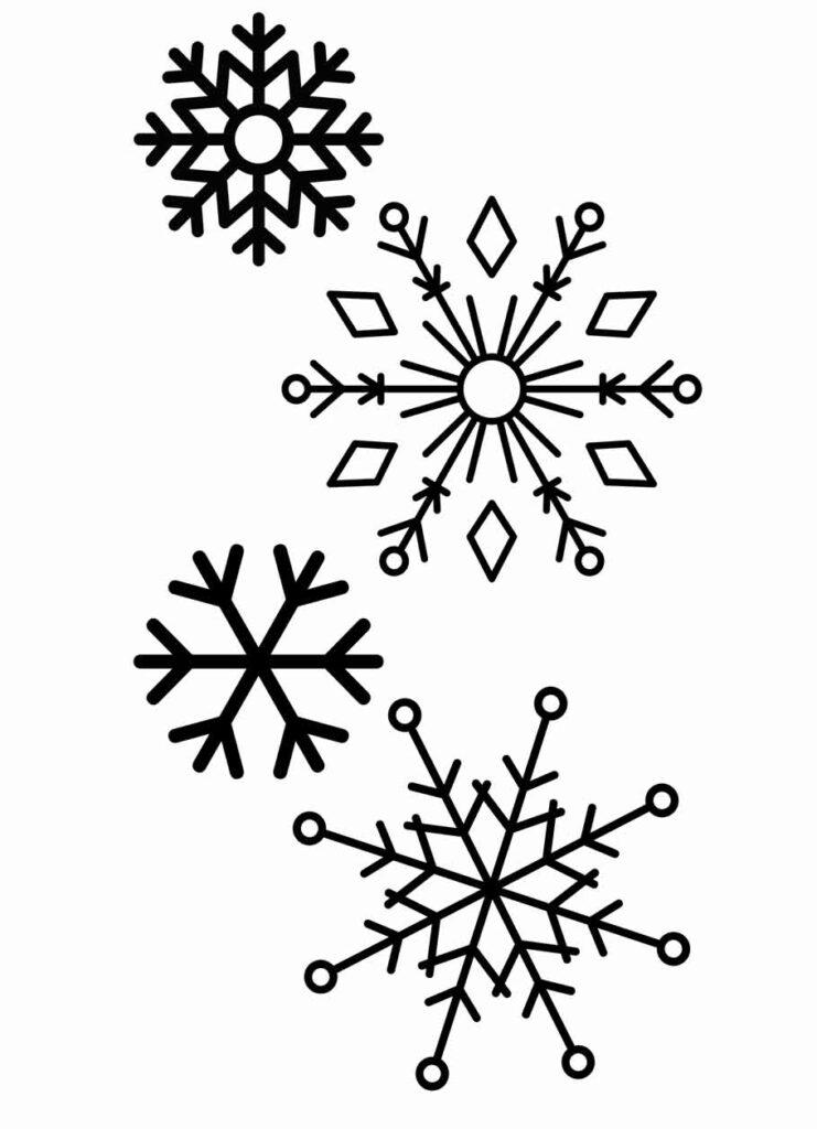 Fensterbild Vorlage Schneeflocken