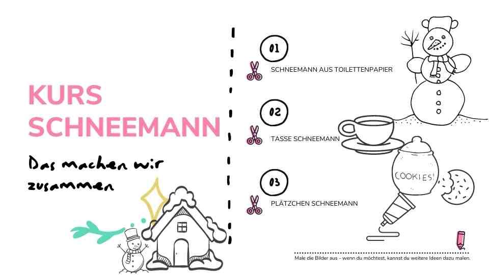 Mitmachheft Kursheft Schneemann, Seite 2