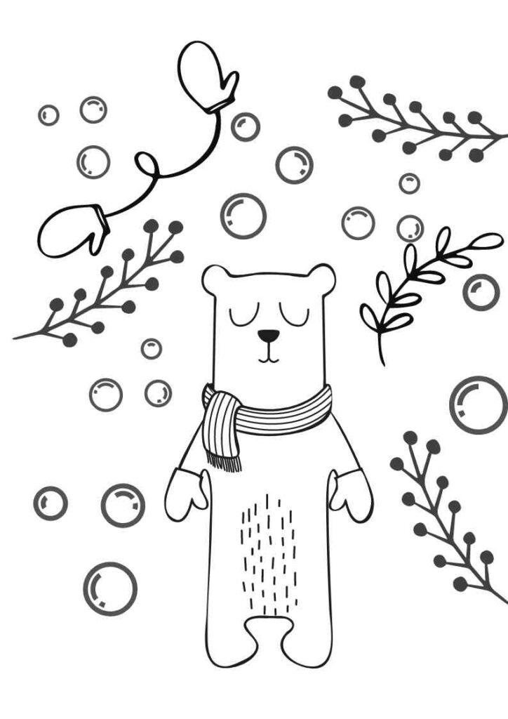 Vorlage Fensterbild Kreidestift Polarbär Eisbär