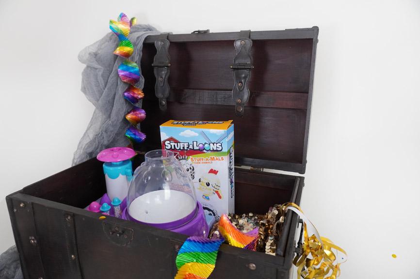 Stuff-A-Mals Geschenk im Luftballon - Nerf Kindergeburtstag Geschenk, Inhalt