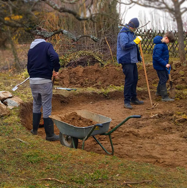 Familienprojekt Garten anlegen: Feuerstelle