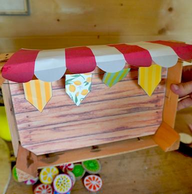 Markstand basteln aus einer Holzkiste - DIYObststand