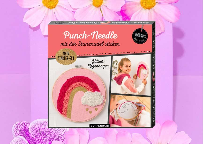 Punch Needle Set für Anfänger, Regenbogen, Coppenrath Verlag