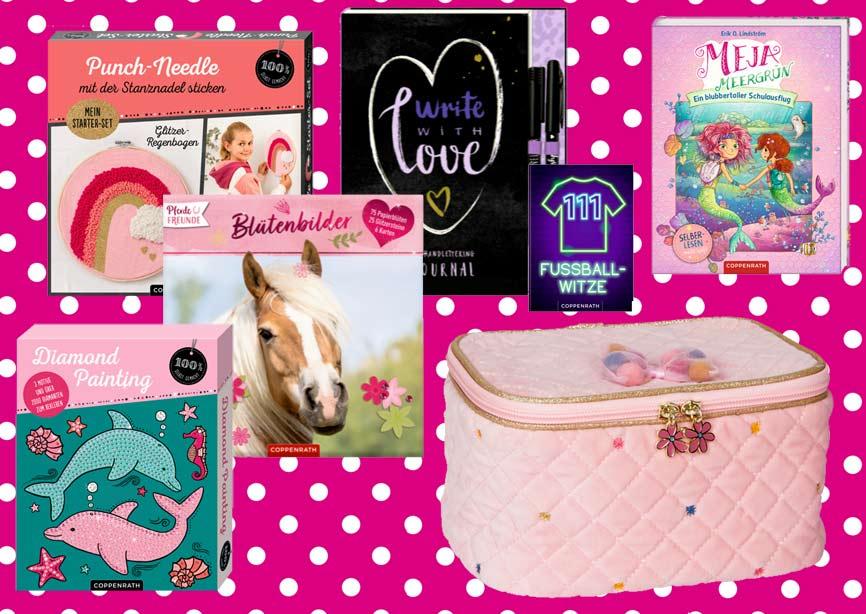 Bücher in pink für Jungen und Mädchen