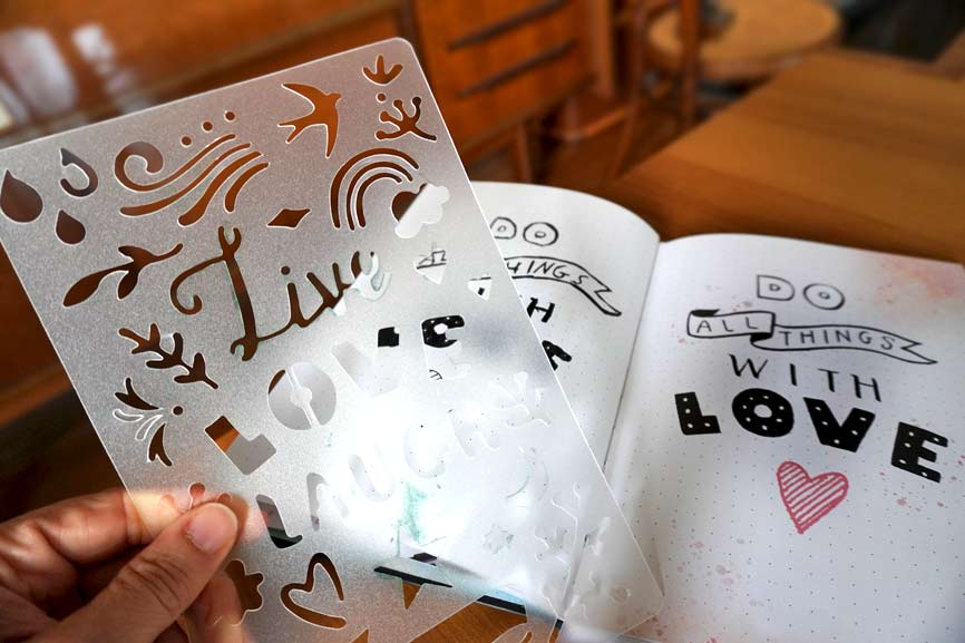 Bullet Journal Tagebuch mit Handlettering Vorlage