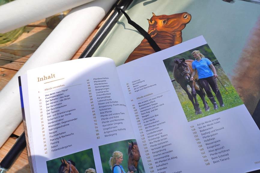 """Inhaltsverzeichnis Buch """"Pferde verstehen, erziehen und reiten"""""""