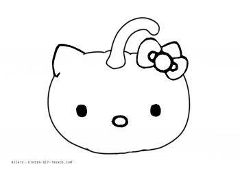 Ausmalbild Halloween Kürbis Monster gratis Vorlage Hello Kitty zum Ausdrucken