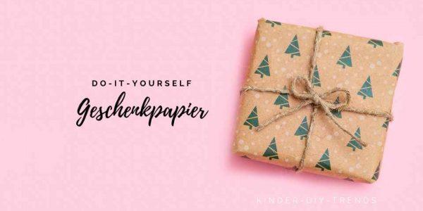 Geschenkpapier für Weihnachten selber machen: Tannenbaum stempeln: ANLEITUNG
