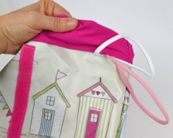 Tasche aus Wachstuch Stoff selber nähen
