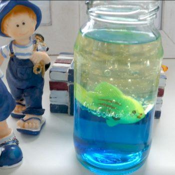 DIY Lavalampe oder Aquarium im Glas basteln