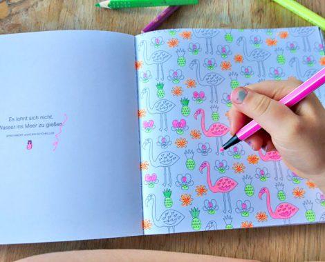 Vorlage zum Flamingo ausmalen - Malbuch für Kinder