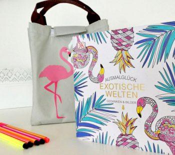 Flamingo und tropische Motive Ausmalbilder