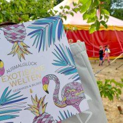 Keine Langeweile bei Regen - Ausmalbuch Flamingo