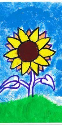 Sonnenblumen Bild - zeichnen lernen mit dem Smart Sketcher