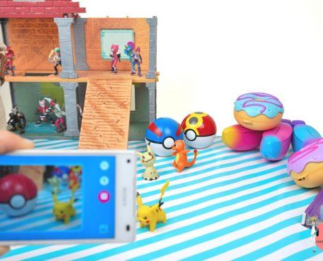 Spielfigur fotografieren mit der Smart Sketcher App, dann auf den Projektor spielen und zeichnen
