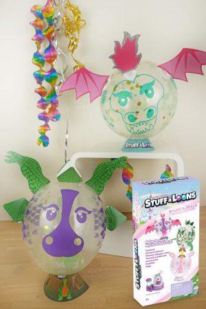 Stuff-A-Mals Geschenk im Luftballon - Nerf Kindergeburtstag Geschenk Fabelwesen