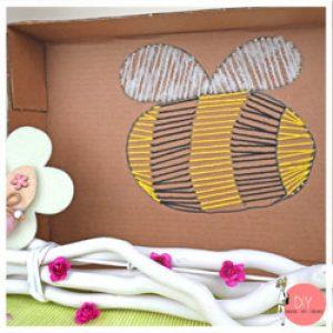 Anleitung Stringart Biene mit Dremel Lite