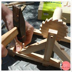 Anleitung Bauset Leonardo da Vinci Katapult