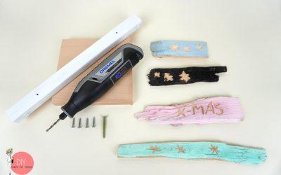 Material für den DIY Weihnachtsbaumständer