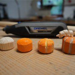 Holz Kürbis schnitzen und fräsen mit Dremel Lite. Schritt-für-Schritt Bildanleitung