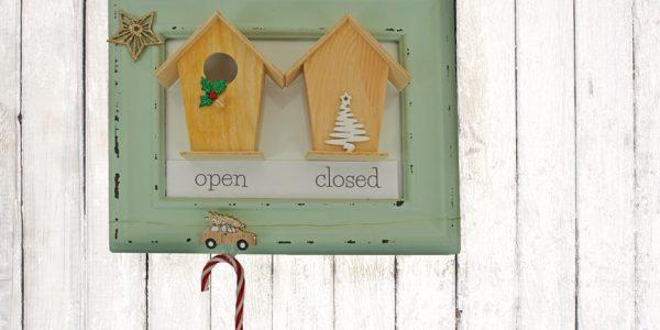 Zimmerschild open closed selber basteln mit Dremel: Dekoideen fürs Kinderzimmer