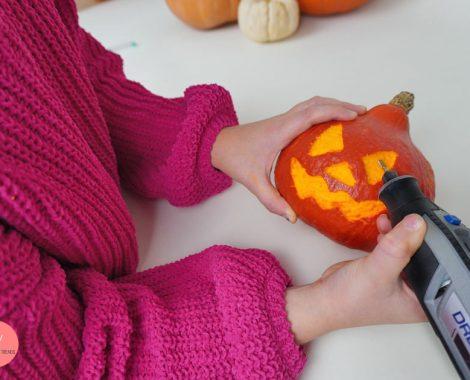 Kinderleichtes Kürbis schnitzen ohne Messer