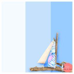 Anleitung Segelboot aus Strandgut bauen