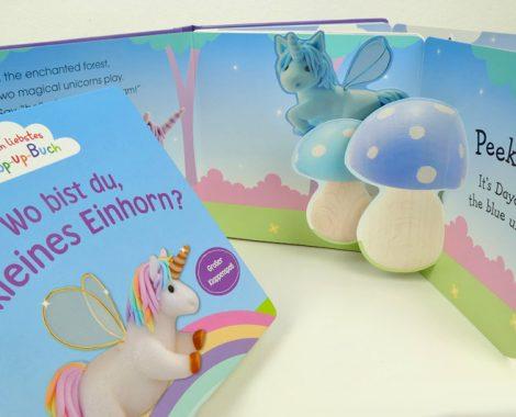 Einhorn Bilderbuch mit Klappen - Englisch lernen für Kinder