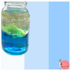 Anleitung Lavalampe Experiment Aquarium im Glas