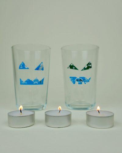 Experiment Glas und Lichtbrechung Physik - für Kinder an Halloween