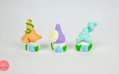 Hygge Pastell Wichtelhäuser selber machen mit Baumstamm Dekoidee