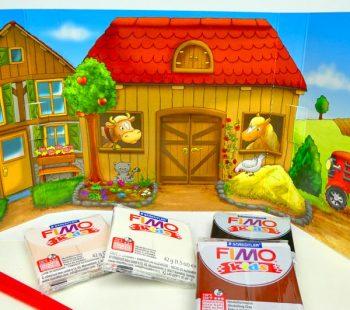Farm Hintergrund mit Knete und Vorlagen FIMO