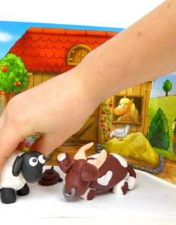 Vorlage und Anleitung für Kuh und Schaf