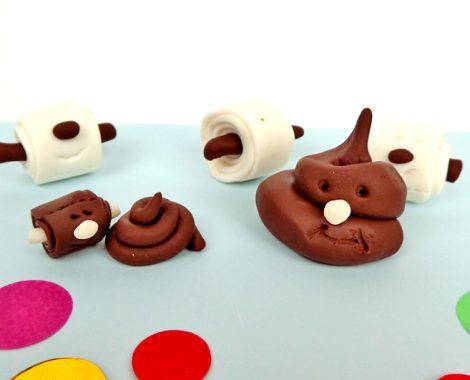 Modellieren mit Jungs - Kackhaufen und Toilettenpapier FIMO Funny Papers
